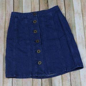 Anthro Pilcro & the Letterpress Mini Jean Skirt